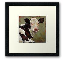 A Calf Named Ivory Framed Print