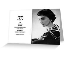 COCO CHANEL Greeting Card