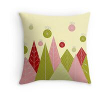 Ornaments and Trees Throw Pillow