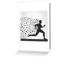 Runner sports Greeting Card