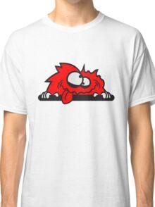 bescheuert haarig monster wuschelig verrückt lustig comic cartoon zottelig crazy cool gesicht  Classic T-Shirt