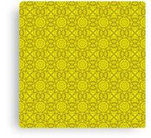 "503. ""Spirit of India: Fleur-Sun"" in golden yellow Canvas Print"
