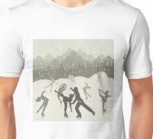 Skating rink on lake Unisex T-Shirt