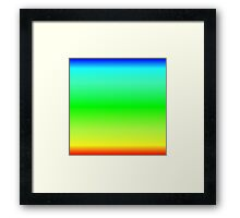 Color Gradient - Red   Yellow   Green   Cyan   Blue Framed Print