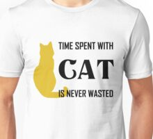 Time Spent with Cat is Never wasted | Cat Shirt Unisex T-Shirt