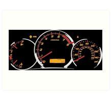 WRX gauges Art Print