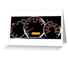 WRX gauges Greeting Card