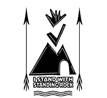 Stand With Standing Rock  Photographic Print