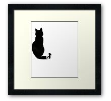 Time Spent with Cat is Never wasted | Cat T Shirt Framed Print