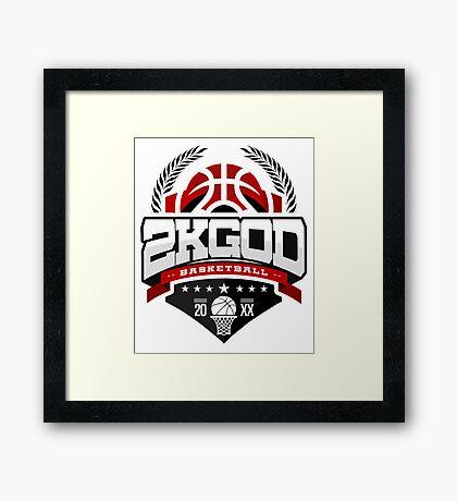 NBA 2KGOD Framed Print