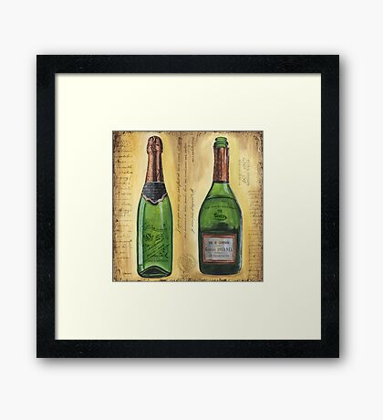 Bubbly Champagne 1 Framed Print