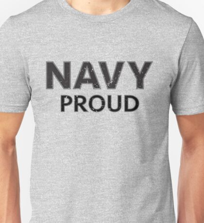 Navy Proud navy blue distressed Unisex T-Shirt