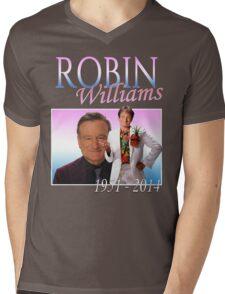 Robin Williams Retro R.I.P. Mens V-Neck T-Shirt