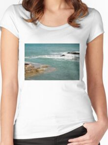 Natural Pool in Guernsey Women's Fitted Scoop T-Shirt