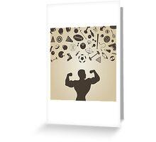 Sports a rain Greeting Card