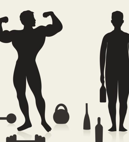 Sportsman and alcoholic Sticker