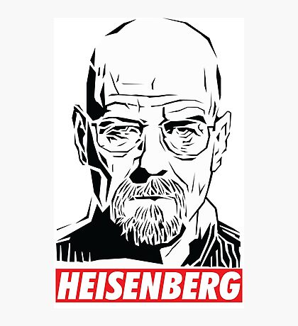 Breaking Bad: Heisenberg - Obey style Photographic Print