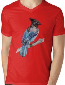 Black Jay Mens V-Neck T-Shirt