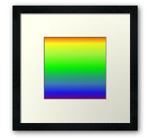 Color Gradient - Purple | Blue | Green | Yellow | Orange Framed Print