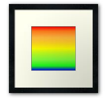 Color Gradient - Blue   Green   Yellow   Orange   Red Framed Print