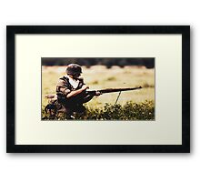 Soldier in war Framed Print
