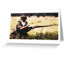 Soldier in war Greeting Card
