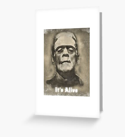 Frankenstein Monster Boris Karloff Design Greeting Card