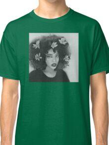 flower hair girl Classic T-Shirt
