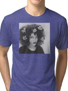 flower hair girl Tri-blend T-Shirt