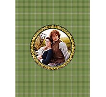 Jamie & Claire in Celtic knot frame. Photographic Print