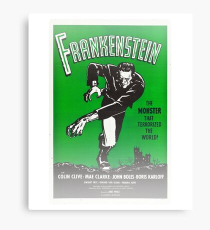 Frankenstein Monster Boris Karloff Design Canvas Print