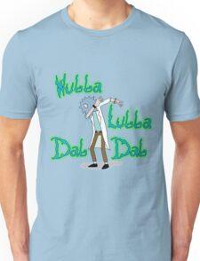 Wubba Lubba Dab Dab Rick with Background Unisex T-Shirt