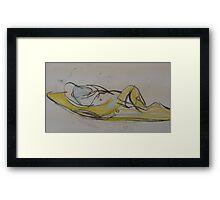 nude reclining Framed Print