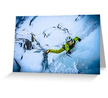 Cryotherapy Ice Climbing Greeting Card