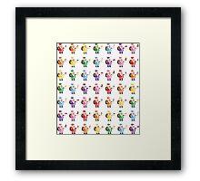 Rainbow Pixel Santa! Framed Print