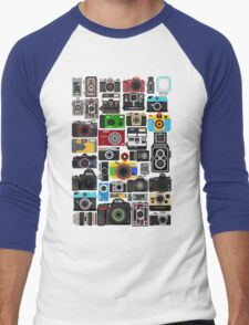 Pixelated Camerass Men's Baseball ¾ T-Shirt