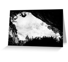 Dry Tool Climber Greg Boswell Greeting Card