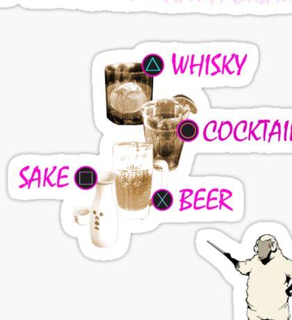 Catherine Drinks Design Sticker