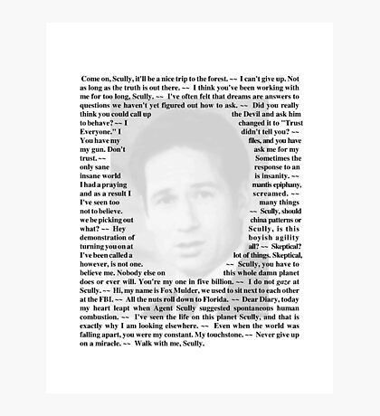 X-Files Quotes - Fox Muluder Photographic Print