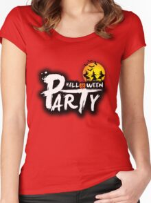 Halloween Party Women's Fitted Scoop T-Shirt