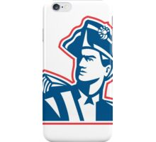 American Patriot Soldier Bust Retro iPhone Case/Skin