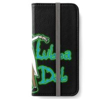 Wubba Lubba Dab Dab Rick Black Background with Glow iPhone Wallet/Case/Skin