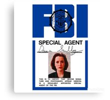 X-Files - FBI Agent Dana Scully Canvas Print