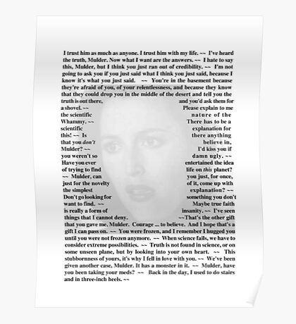 X-Files Quotes - Agent Dana Scully Poster