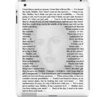 X-Files Quotes - Agent Dana Scully iPad Case/Skin