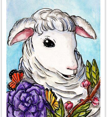 Lamb of Spring Sticker