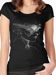 Mystery Woman Portrait Women's Fitted Scoop T-Shirt