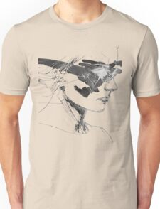 Mystery Woman Portrait Unisex T-Shirt