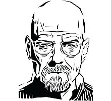 Breaking Bad: Heisenberg stencil Photographic Print
