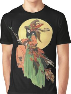 Autumn Witch Graphic T-Shirt